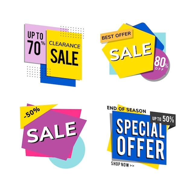 Conjunto de vectores de anuncios de promoción de venta vector gratuito