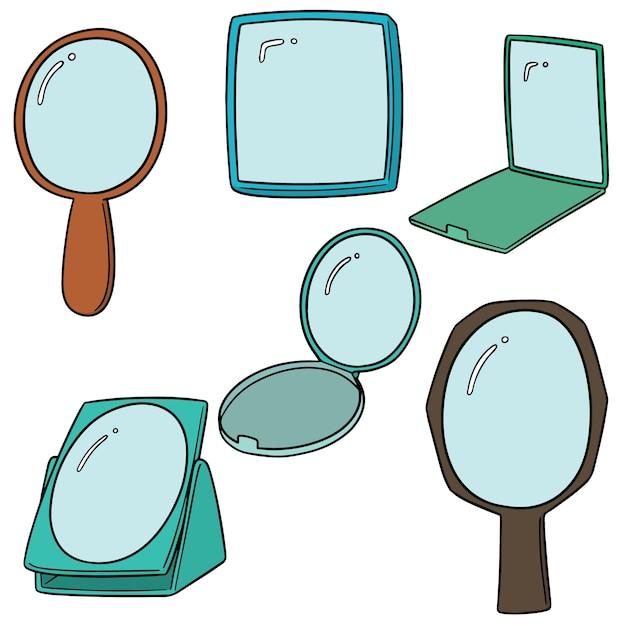 Conjunto de vectores de espejo Vector Premium