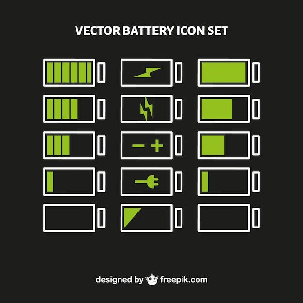 Conjunto de vectores de nivel de batería Vector Premium