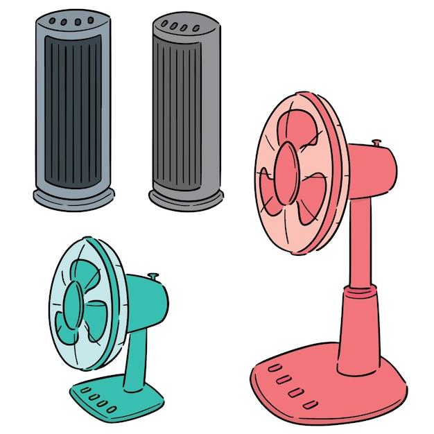 Conjunto de vectores de ventilador Vector Premium
