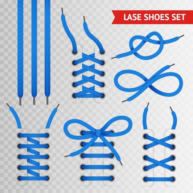 Conjunto de zapatos de encaje azul vector gratuito