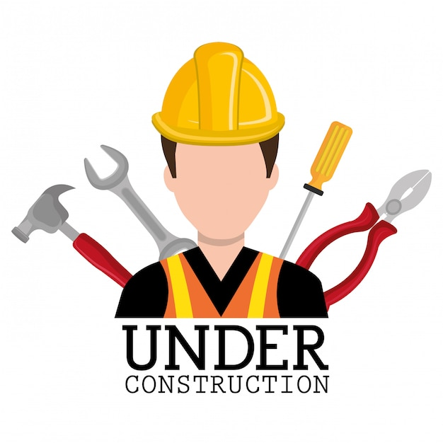 En construcción ilustración vector gratuito