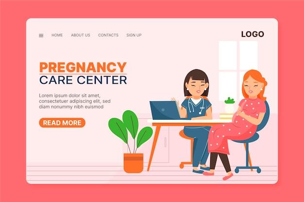 Consulta de embarazo - página de inicio vector gratuito