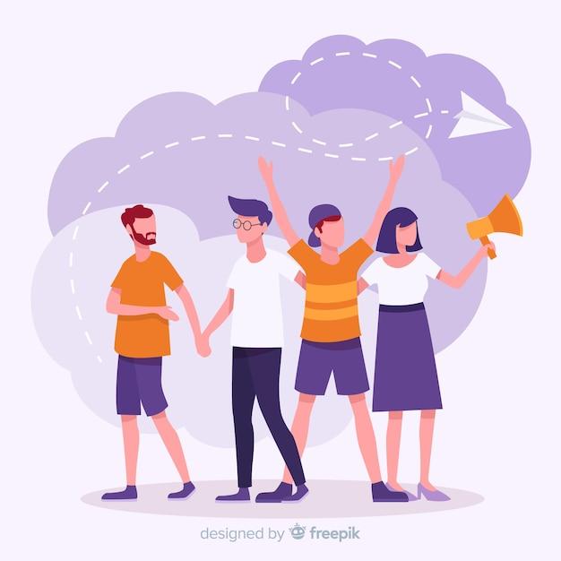 Consulte una ilustración del concepto de amigo vector gratuito