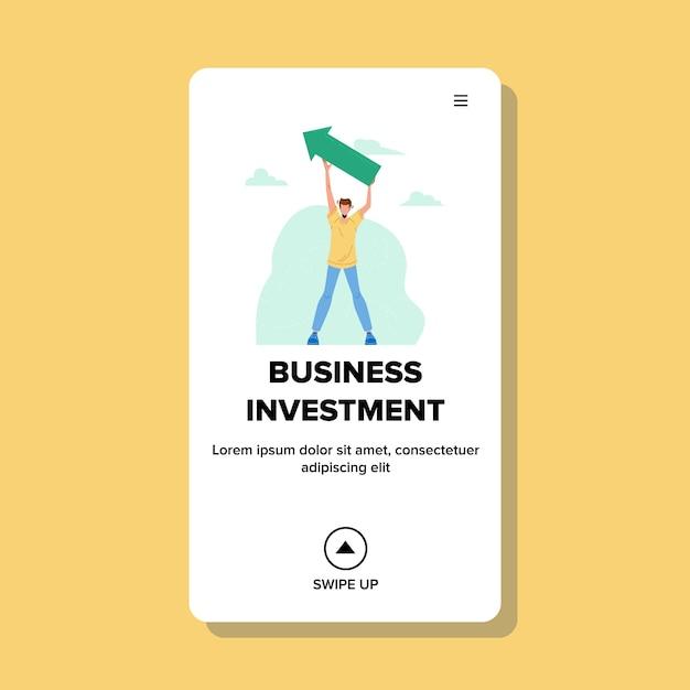 Consultor de finanzas de inversión empresarial Vector Premium
