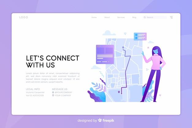 Contáctenos concepto página de inicio vector gratuito