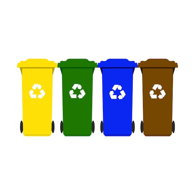Contenedores de basura para reciclaje descargar vectores premium - Contenedores de basura para reciclaje ...
