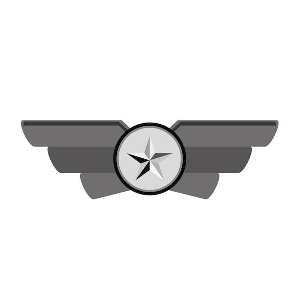 Contorno del emblema mostrando rango militar. Vector Premium