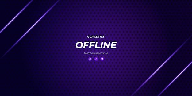 Contracción púrpura moderna fuera de línea Vector Premium