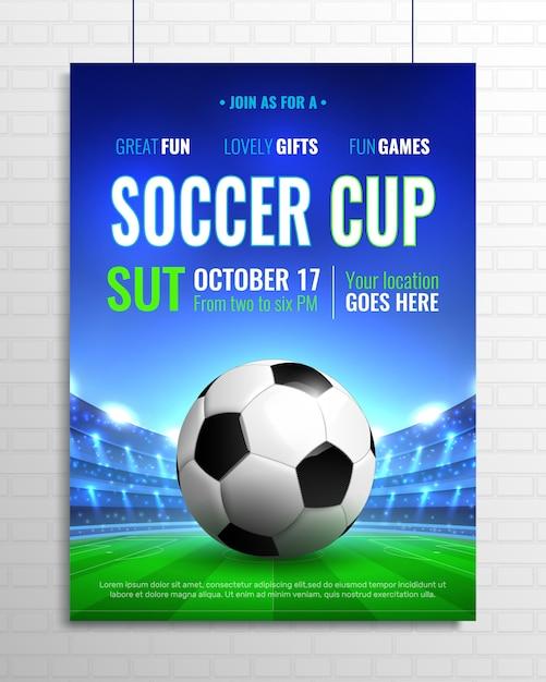 Copa de futbol vector gratuito