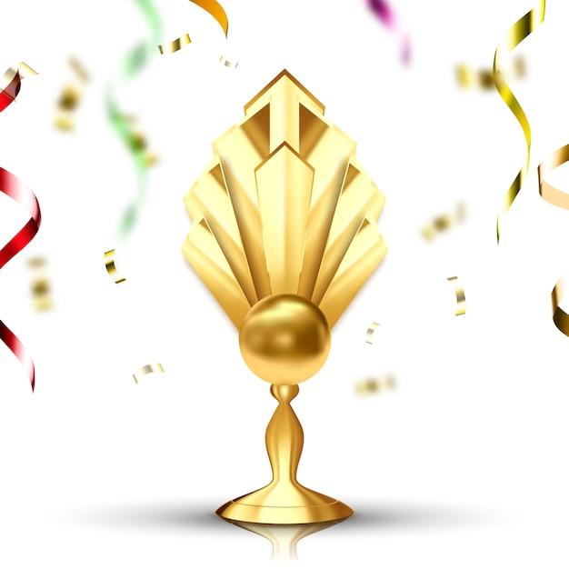 Copa de oro Vector Premium