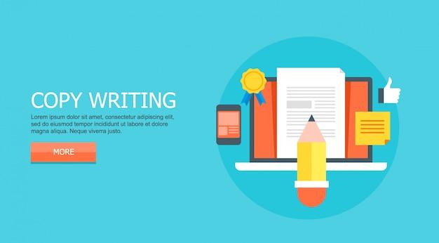 Copiar concepto de escritura Vector Premium
