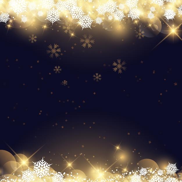 Copos de nieve y estrellas de navidad descargar vectores for Estrella de nieve