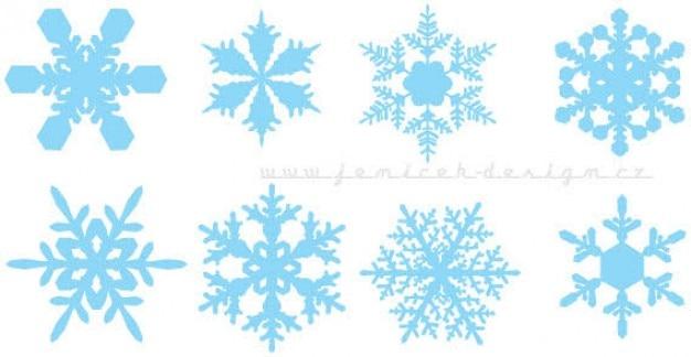 Los Copos De Nieve Vectoriales Colorido Descargar Vectores Gratis