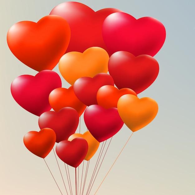 Cópula de globos de gel rojo. Vector Premium