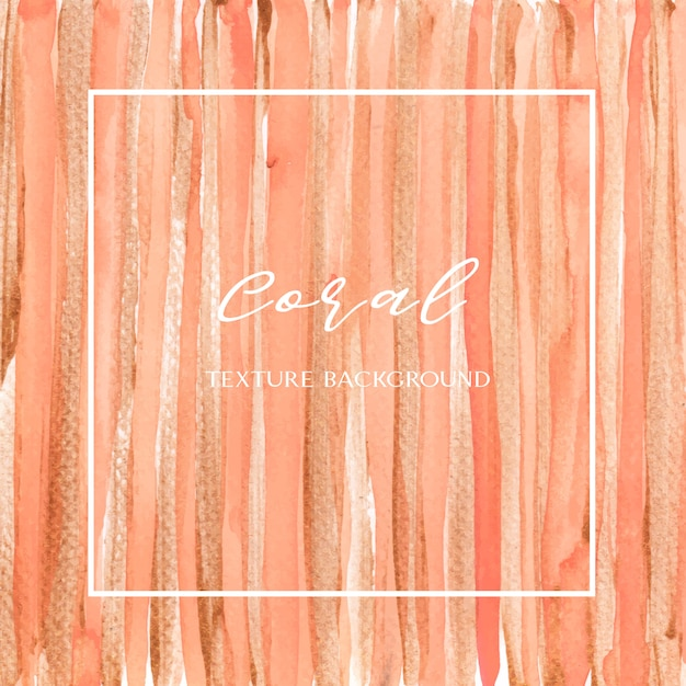 Coral color trendy seashell acuarela y oro gouache textura fondo impresión papel tapiz vector gratuito