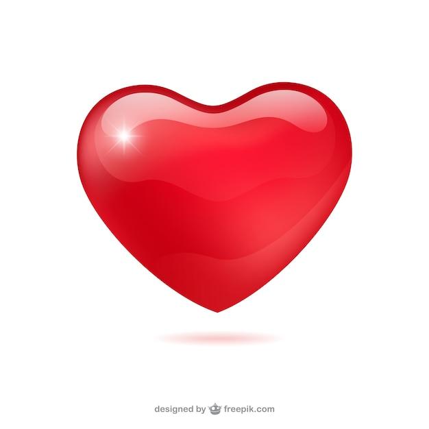 Corazón brillante vector gratuito