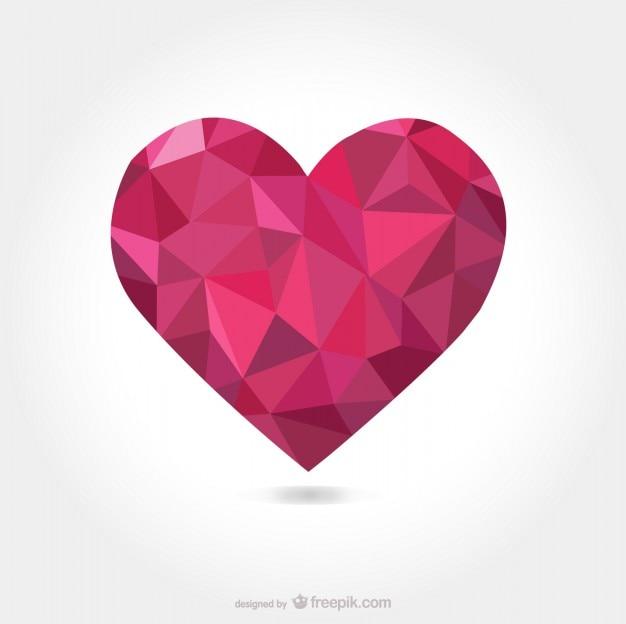 Corazón con formas triangulares | Descargar Vectores gratis