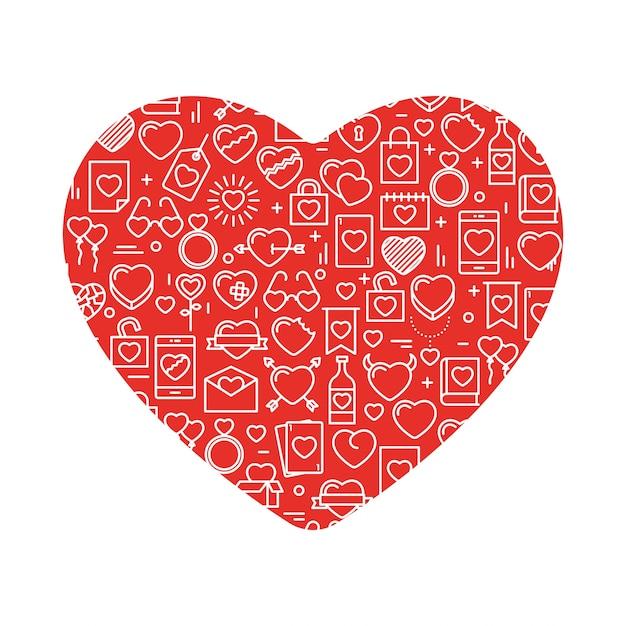 Ilustración Del Vector Para El Día De San Valentín, Boda,