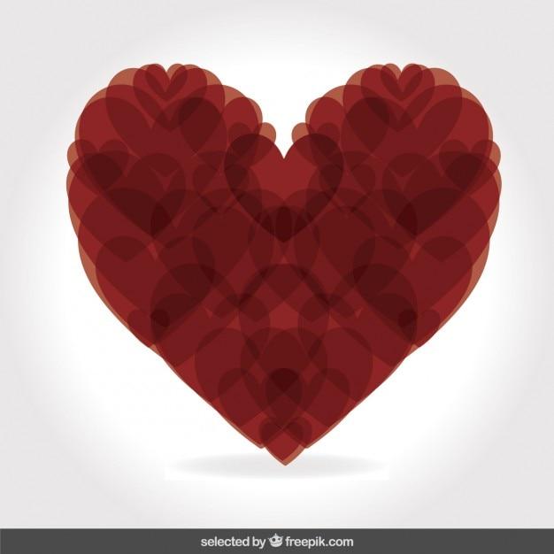 Corazón Hecho Con Corazones Descargar Vectores Gratis