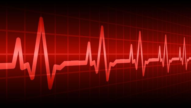 Corazón late cardiograma fondo Vector Premium