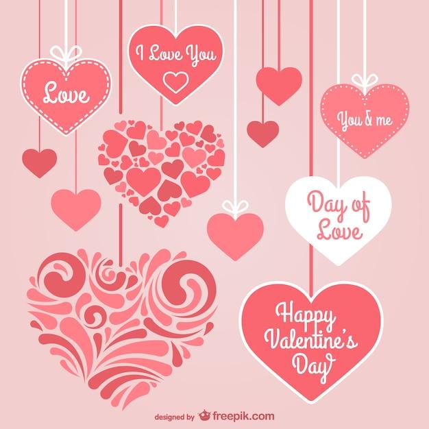 Corazones de día del amor | Descargar Vectores gratis