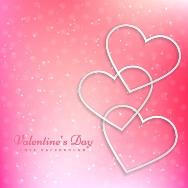 Corazones de san valentín en el hermoso fondo de color rosa ...