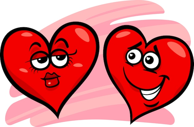 Resultado de imagen para corazones enamorados ilustracion