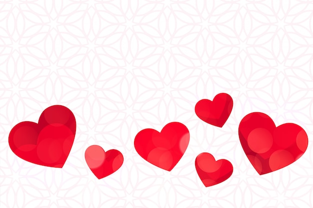 Corazones Rojos Sobre Fondo Blanco Dia De San Valentin Vector Gratis