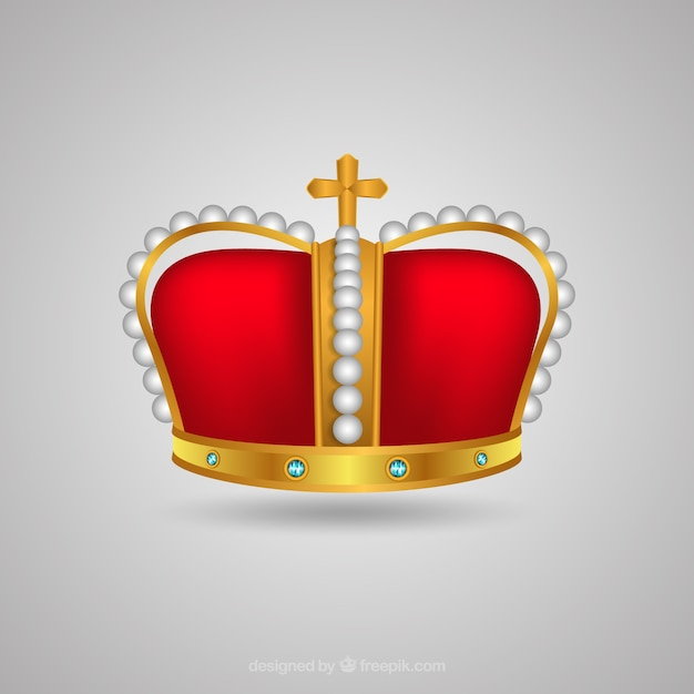 Corona realista con cruz decorativa | Descargar Vectores gratis