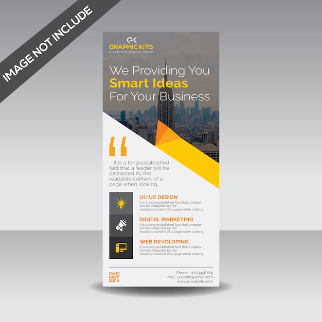 Corporativo roll up banner Vector Premium