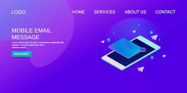Correo electrónico móvil Vector Premium