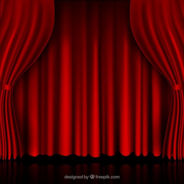 cortinas rojas vector gratis - Cortinas Rojas