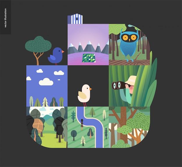 Cosas simples - composición del conjunto forestal Vector Premium