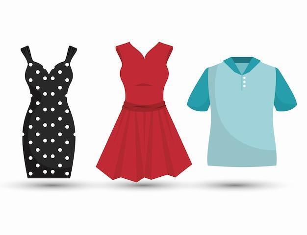 Coser Prendas De Vestir Aislado Icono De Diseño Vector Premium