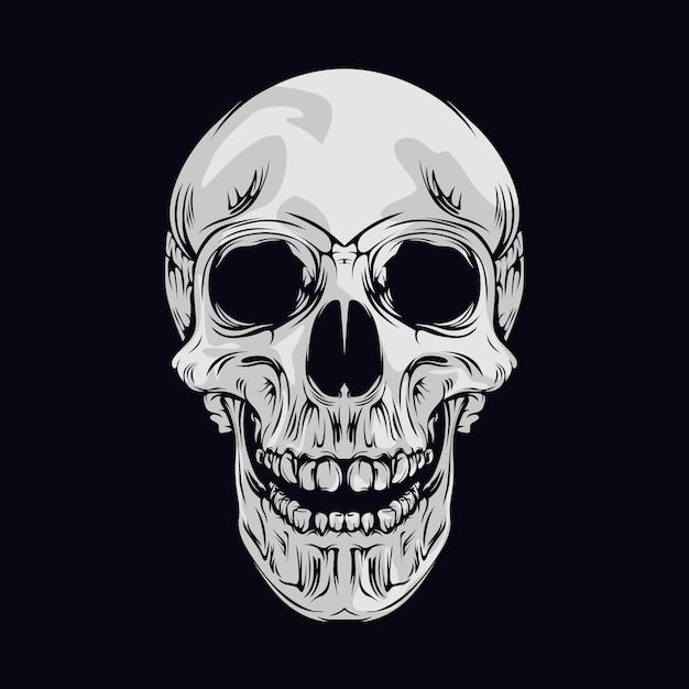 Cráneo sonriente Vector Premium