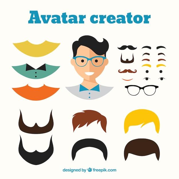 Avatares de hombres con estilo de dibujo animado | descargar.