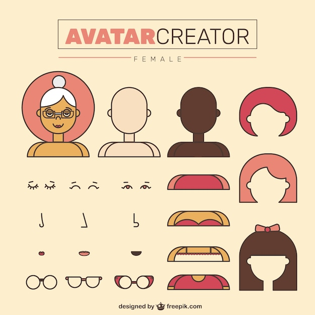 Creador De Avatares En Dise O Plano Descargar Vectores