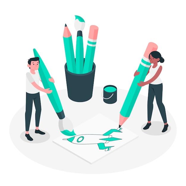 Crear ilustración del concepto vector gratuito