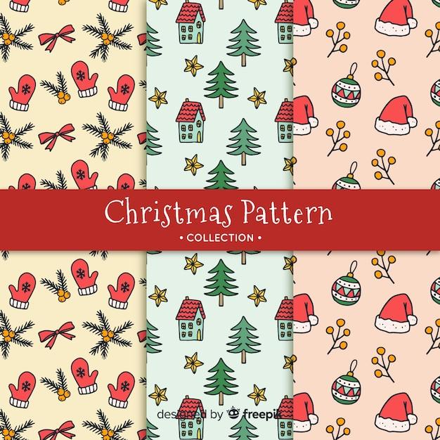 Dibujos De Navidad Creativos.Creativa Coleccion De Patrones De Navidad En Diseno Dibujo A