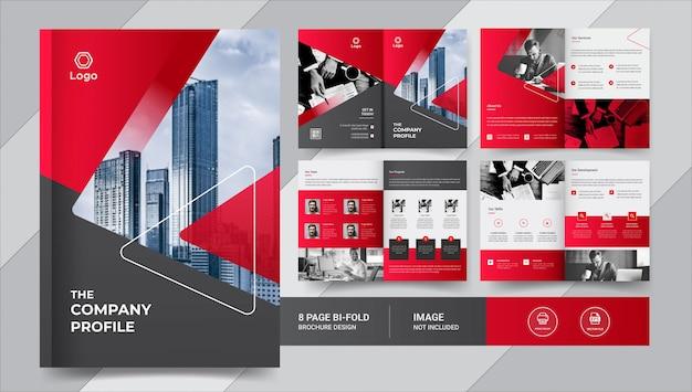 Creativo diseño de folleto comercial de 8 páginas Vector Premium