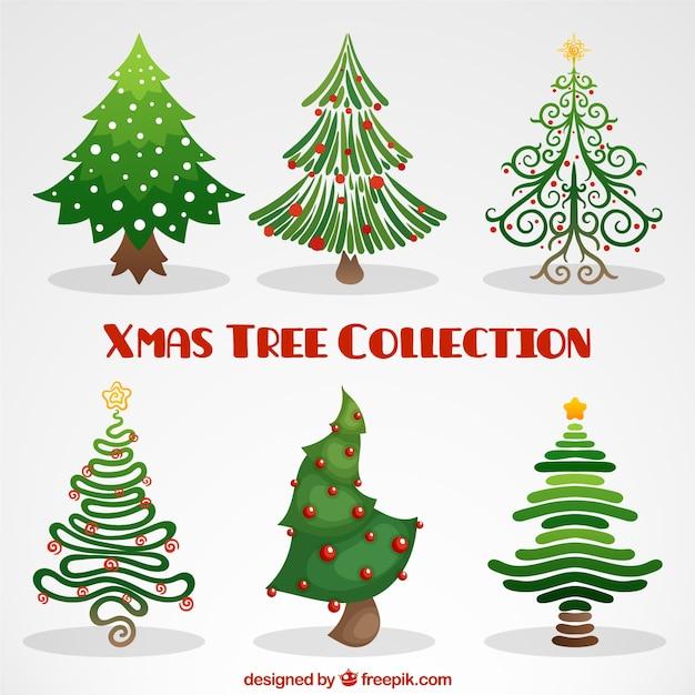 Creativos rboles de navidad descargar vectores gratis - Arboles de navidad creativos ...