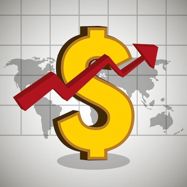 Crecimiento económico vector gratuito