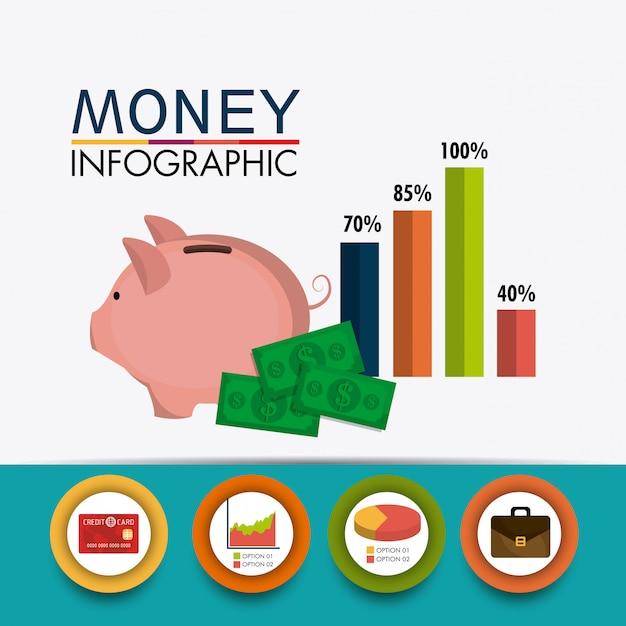Crecimiento empresarial y ahorro de dinero. vector gratuito