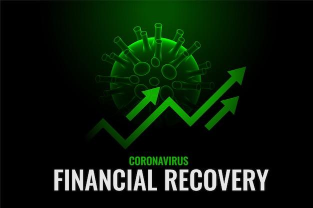 Crecimiento financiero y recuperación después de la cura del coronavirus vector gratuito