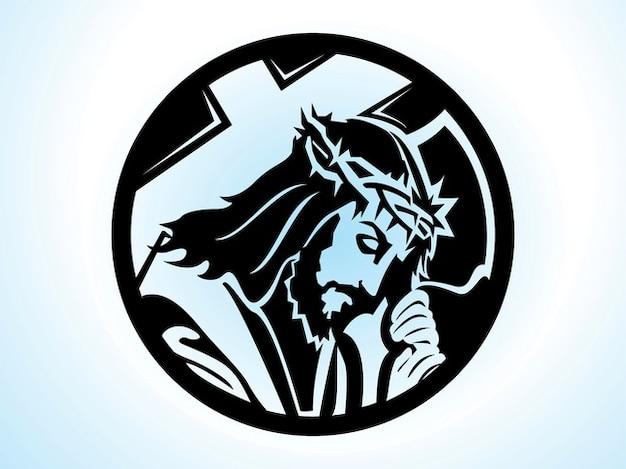 Rostro Cristo Vector