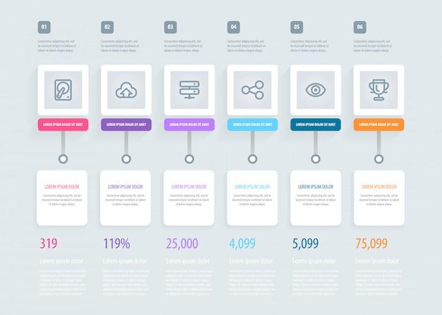 Cronología infografía. Vector Premium