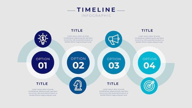 Cronología de la infografía vector gratuito