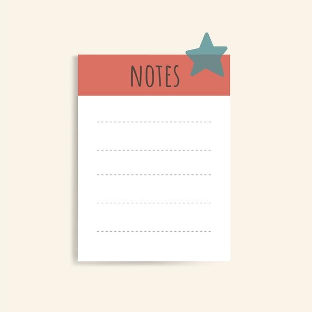 Cuadernos de notas de colores vector gratuito