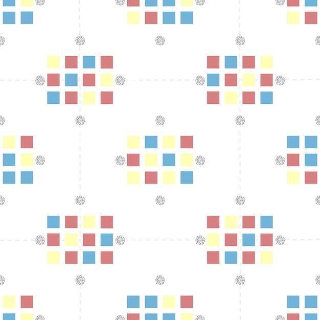 Cuadrado de colores sin fisuras con patrón de brillo de punto de ...